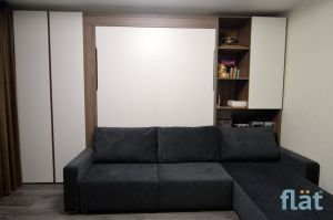 Murphy Bed with Couch Unique Corner sofa with Wall Bed for 2 Persons УгРовая софа и шкаф