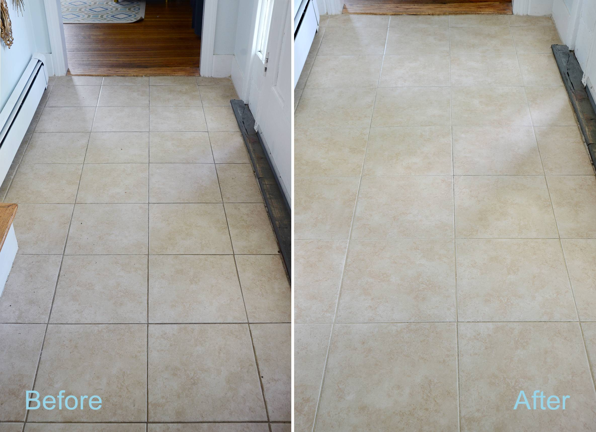 diy grout cleaner before and after