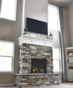 Natural Stone Fireplace New Diy Fireplace with Stone & Shiplap