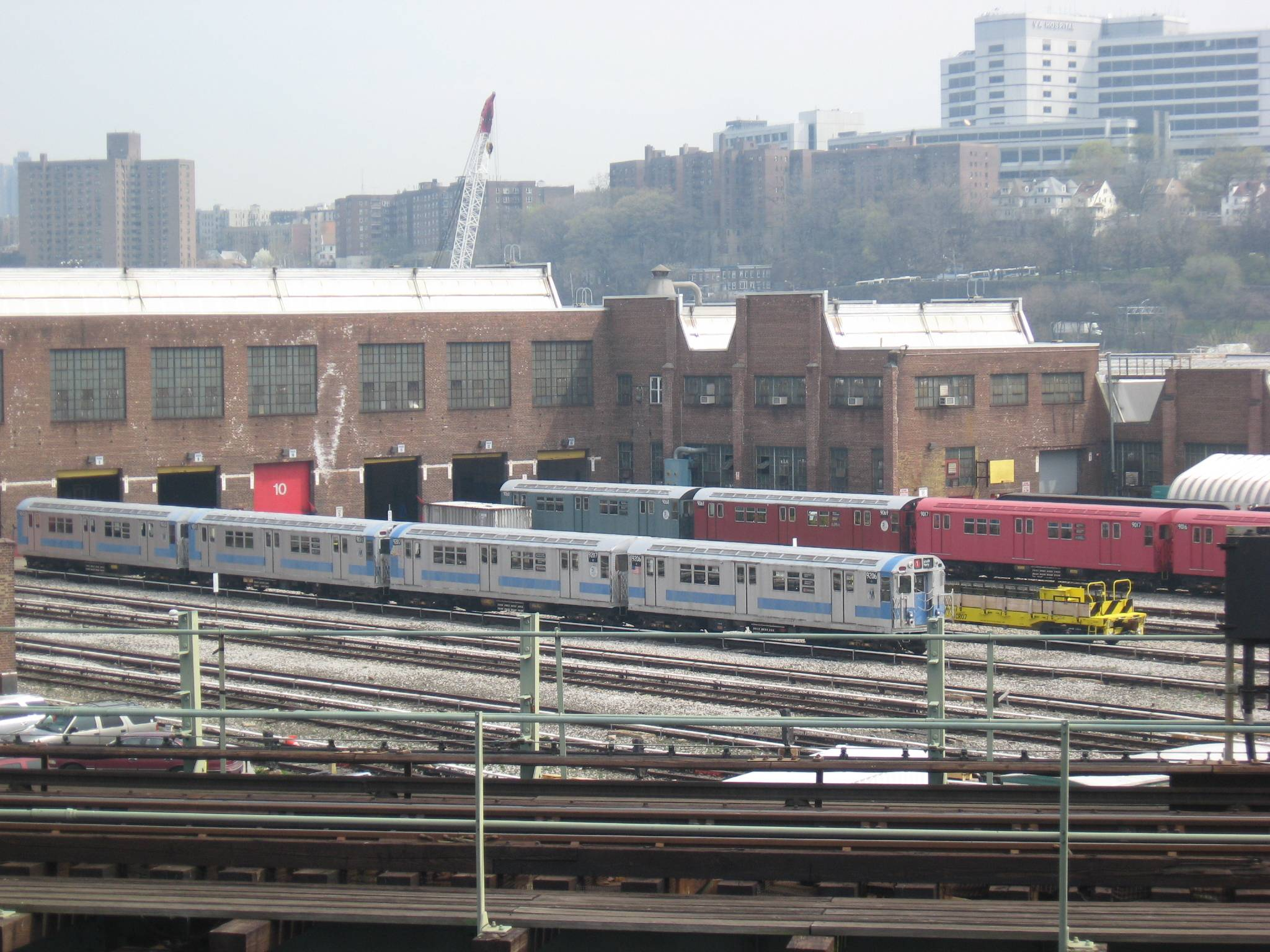 207th Street Yard Train of Many Colors JPG