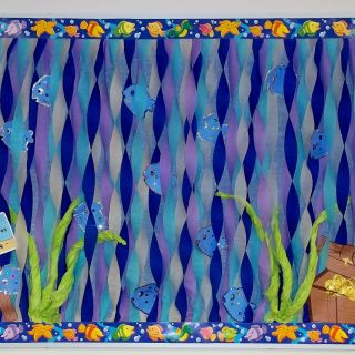 Ocean themed Wall Decor Elegant Ocean Fish Water Treasure Bulletin Board