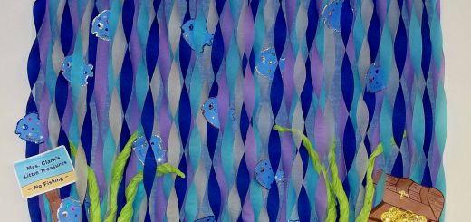 Ocean themed Wall Decor Elegant Ocean Fish Water Treasure Bulletin Board
