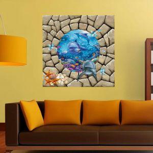 Ocean themed Wall Decor Luxury Wall Dreams Dolphin and Sea Animals Animals Sticker 60 X 60 Cms