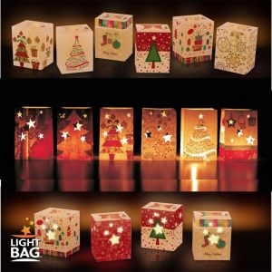 Outdoor Christmas Candle Decorations Awesome Details About Christmas Lightbag Decorative Indoor Outdoor Candle Bag Luminary Party