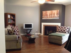 Painting Two Accent Walls Inspirational This is My Finished Living Room Paint Job I Love the Cozy