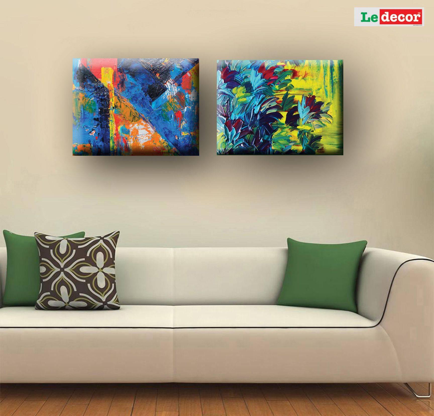 LEDECOR Canvas Wall Decor Green SDL 1 a48d9