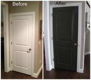 Pantry Door Ideas Best Of Black Interior Doors before and after