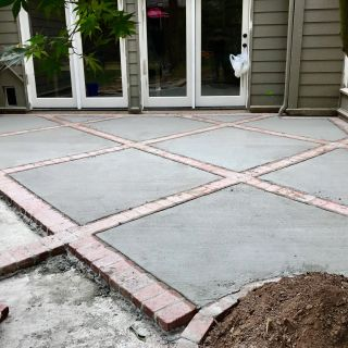 Patio Brick Patterns Inspirational Brick and Concrete Diamond Design Patio