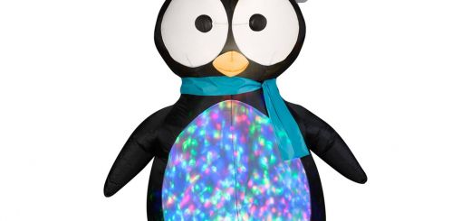 Penguin Outdoor Christmas Decorations New Gemmy Airblown Projection Kaleidoscope Penguin Inflatable
