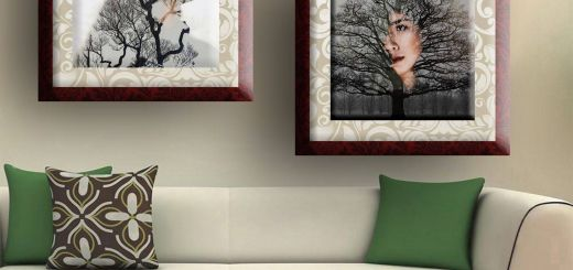 Picture Frame Wall Decor Elegant Ledecor Canvas Painting Wall Decor Tree Girl Set 2 Canvas