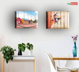 Picture Frame Wall Decor Unique Ledecor Canvas Wall Painting House and Emotional Face Set Of 2 Canvas Painting with Frame