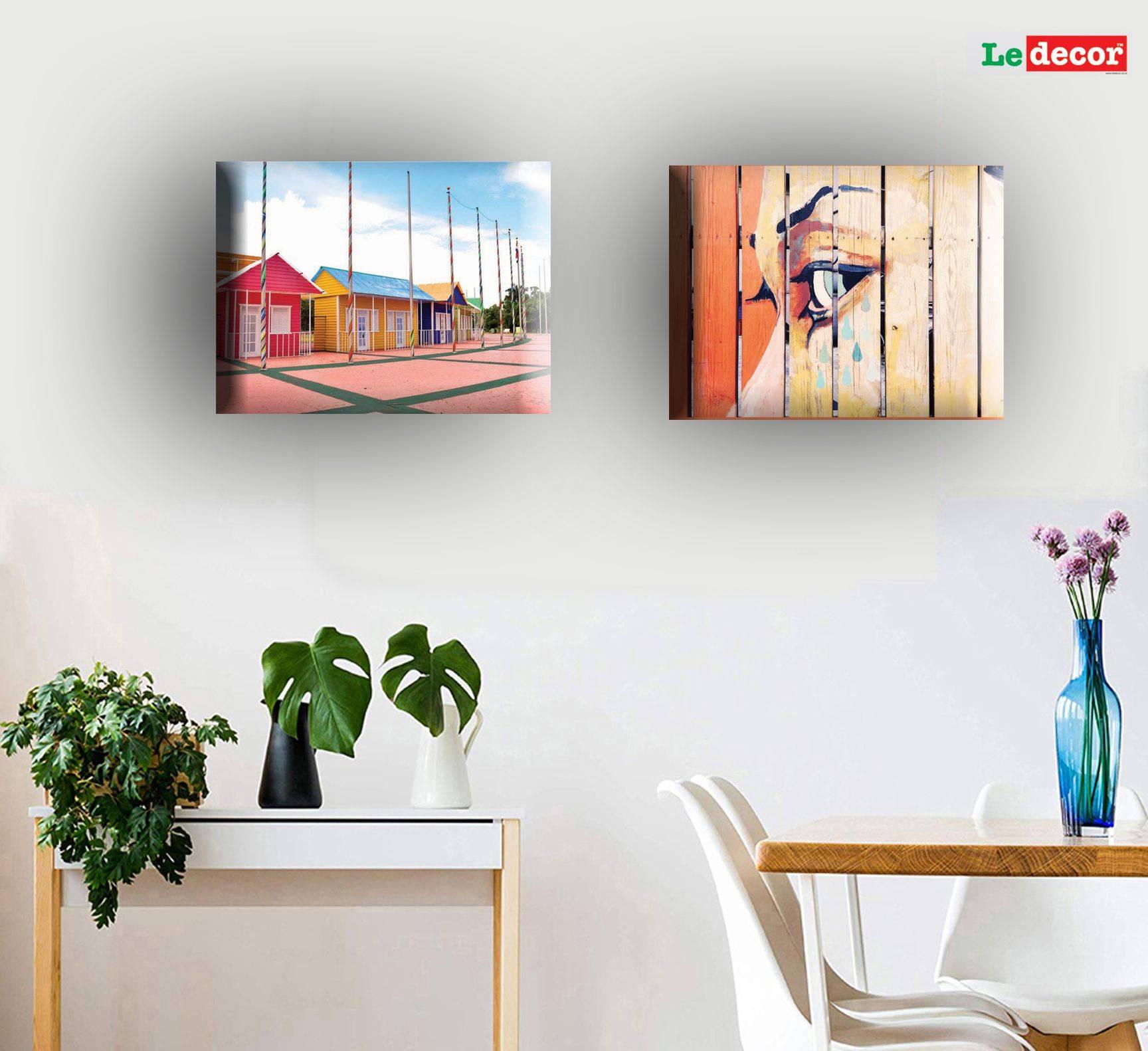 LEDECOR Canvas Wall Painting house SDL 2 f9283