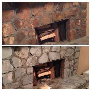 Pictures Of Stone Fireplaces New Diy Painted Rock Fireplace I Updated Our Rock Fireplace