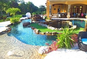 Pool Designs for Small Yards New Backyard Oasis Lazy River Pool with island Lagoon and