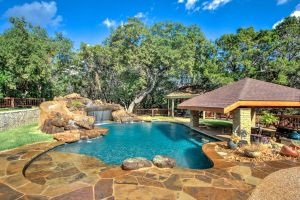 Pool Landscaping with Rocks Inspirational Outdoor Kitchen with Swim Up Bar Huge Real Rock Waterfall