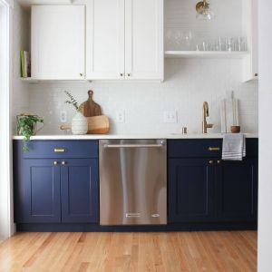 Popular Kitchen Cabinet Colors for Beautiful 12 Navy Blue Paint Options for Kitchen Cabinets