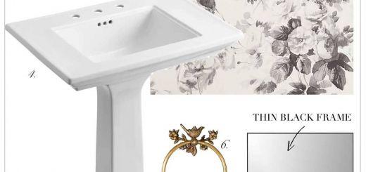 Powder Room Design Ideas New Small Half Bath Powder Room Design Idea with Black and White