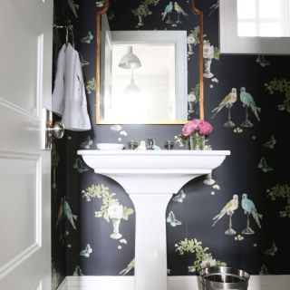 Powder Room Wallpaper Lovely the Midway House Mudroom Bathrooms