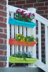 Rain Gutter Planters Lovely Hanging Gutter Planter the Creative Mom