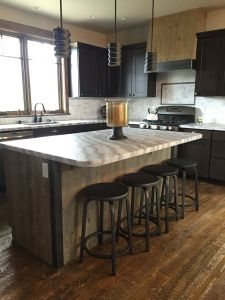 Red Kitchen islands for Sale Best Of Kitchen island Wrapped In Ghost Wood