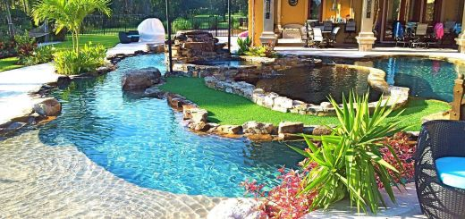 Residential Swimming Pool Designs Inspirational Backyard Oasis Lazy River Pool with island Lagoon and