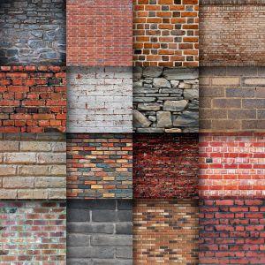 River Stone Wall Construction Unique Brick Wall Textures Digital Paper
