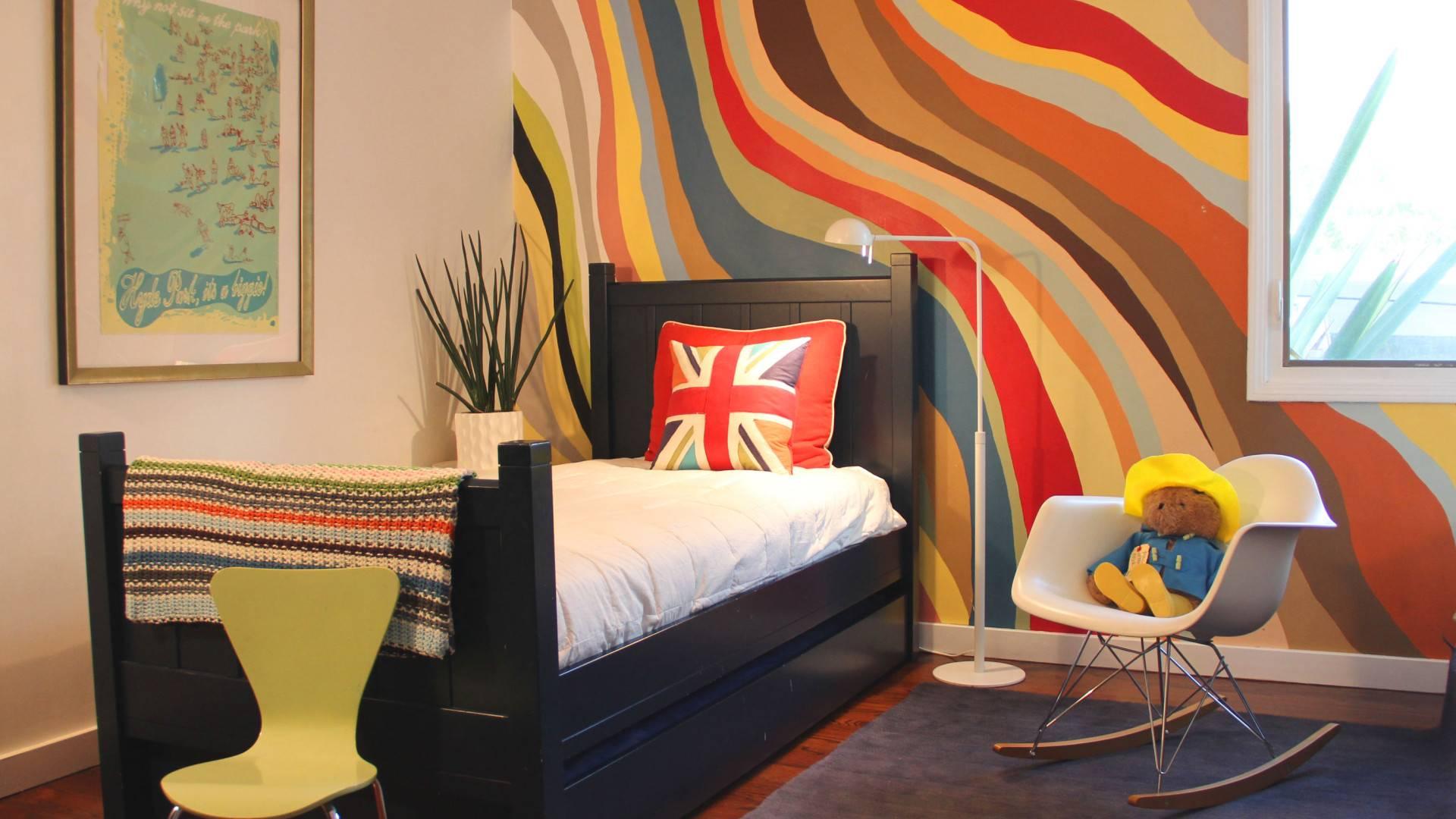 kids room colorful wave room
