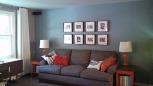 Rooms with Gray Walls and Brown Furniture Awesome Gray Living Room Blue Wall Gray sofa orange Accent Tables