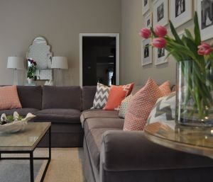 Rooms with Gray Walls and Brown Furniture Inspirational before & after Living Room Transformation
