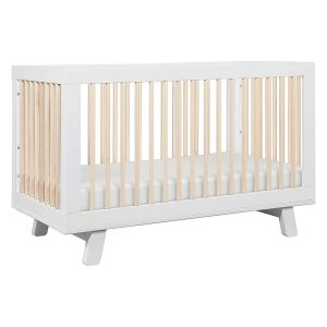 Round Baby Cribs for Sale New Babyletto Hudson 3 In 1 Convertible Crib with toddler Bed Conversion Kit White Washed Natural