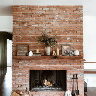 Rustic Fireplaces Luxury This Living Room Transformation Features A 100 Year Old