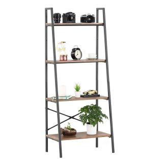 Rustic Ladder Shelf Awesome Mecor Industrial Ladder Shelf 4 Tier Bookshelf,metal Frame Storage Rack Shelves,modern Design Furniture for Home Fice,rustic Brown