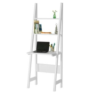 Rustic Ladder Shelf Awesome sobuy White Wooden Storage Display Shelving Ladder Shelf with Desk and 2 Shelves 64x39x180cm Frg60 W