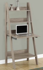 Rustic Ladder Shelf Inspirational Features Ladder Style Shelves Closed Storage Drops Down