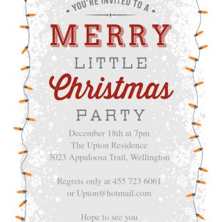 Sample Christmas Card Invitation Letter New 12 Free Christmas Party Invitations that You Can Print
