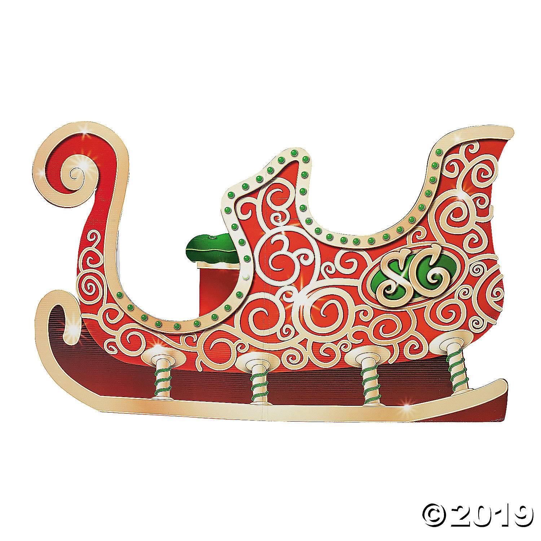 santas sleigh cardboard stand up 4 5081 a01