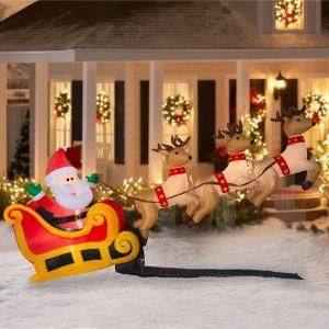 Santa Sleigh Yard Decoration Best Of Santa S Sleigh with Flying Reindeer