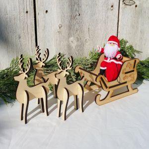 Santa Sleigh Yard Decoration Fresh Santa Claus Doll Kindness Tradition Elves