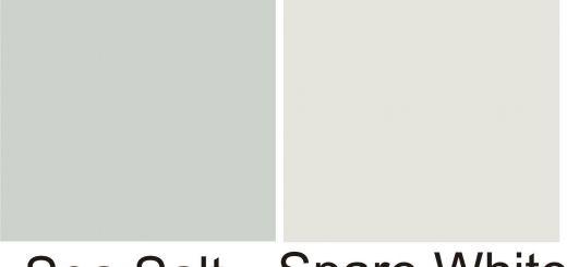 Sherwin Williams Silver Strand Bathroom Beautiful Sw Sea Salt Sw Spare White Walls White Wainscot