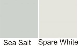 Sherwin Williams Silver Strand Kitchen New Sw Sea Salt Sw Spare White Walls White Wainscot