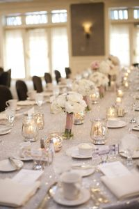 Silver Glitter Wedding Decorations Beautiful Head Table Sparkle Pink and Silver Wedding Metallics