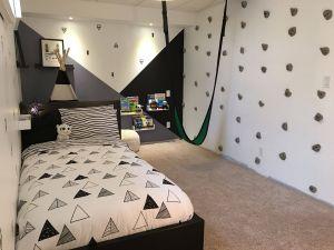 Small Boys Rooms Beautiful Rock Wall In Bedroom Climbing Wall