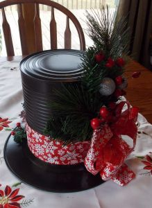 Small Decorative Christmas Plates Best Of Snowman Hat Centerpieces Made From Dollar Store Plates and