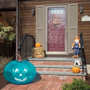 "Small Inflatable Halloween Decorations Beautiful Scs Direct Inflatable 35"" Giant Halloween Teal Pumpkin Ficial Teal Pumpkin Project Allergy Friendly Trick or Treat Decor All Sales Supports Fare"