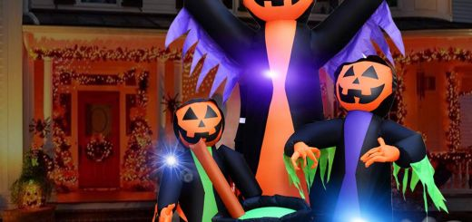 Small Inflatable Halloween Decorations Lovely Halloween Decorations Outdoor Inflatable Witches Cauldron 6ft Trick or Treat Pumpkin Wizard Led Light Inflatable for Halloween Holiday Party Decor
