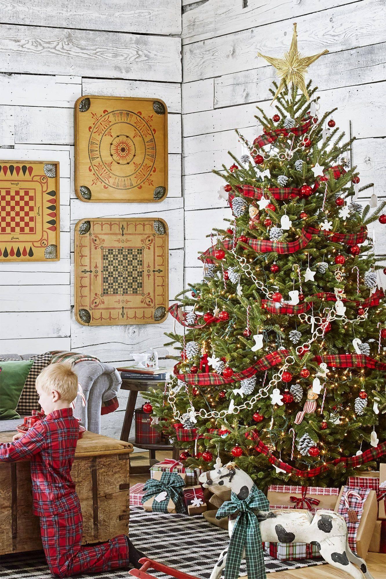 christmas tree ideas plaid