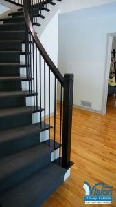 Staircase Railings Fresh Curved Staircase with Iron Railing and Balusters with Ebony