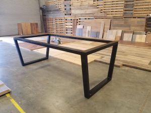 Steel Kitchen Tables Inspirational Custom Upside Down Trapezoid Leg Metal Table Base