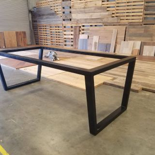 Steel Table Frames Best Of Custom Upside Down Trapezoid Leg Metal Table Base