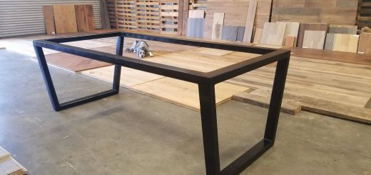 Steel Table Frames Best Of Custom Upside Down Trapezoid Leg Metal Table Base